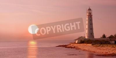 Nálepka lighthouse and sunset