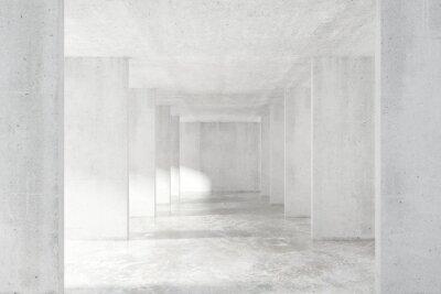 Nálepka Loft styl tunel s mnoha stěnami v lehké prázdnou budovu