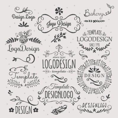 Nálepka Logo design with hand sketched elements
