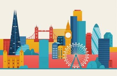 Nálepka London city illustration.