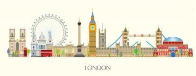 Nálepka London skyline vector 7