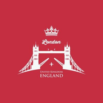 Nálepka London Tower Bridge symbol