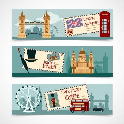 Nálepka London Turistická Banner Set