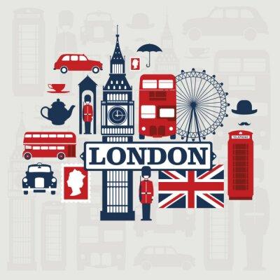 Nálepka London vector set