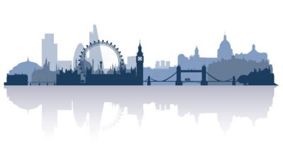 Nálepka Londýn v ploché stile vektoru