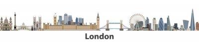 Nálepka Londýn vektorový panorama města
