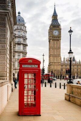 Nálepka Londýnská telefonní budka a Big Ben
