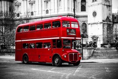 Nálepka Londýnské kultovní dvoupatrový autobus.
