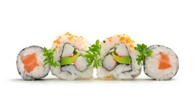 Nálepka losos sushi maki a california rolls