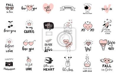 Love Doodles Rucne Kreslene Ilustrace A Sbirky Citatu Nalepky Na