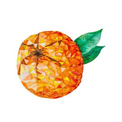 Nálepka Low poly akvarel oranžová