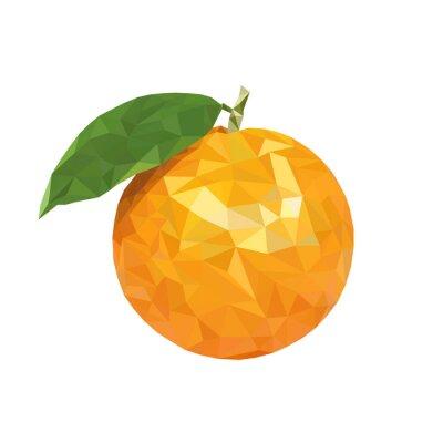 Nálepka Low poly oranžová