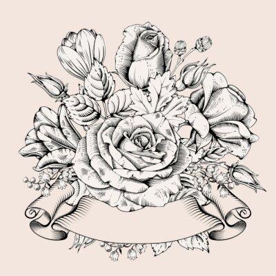 Nálepka Luxusní růže