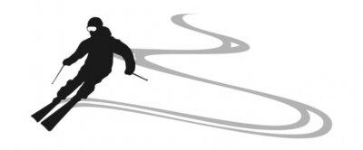 Nálepka lyžař