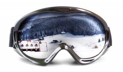 Nálepka lyžařské brýle