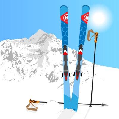 Nálepka Lyží a snowboardů odpočinku 01