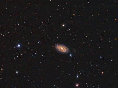 Nálepka M109 Galaxy zobrazen s dalekohledem a vědecké CCD kamerou