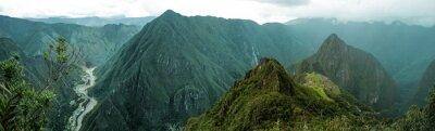 Nálepka Machu Picchu panoramatické