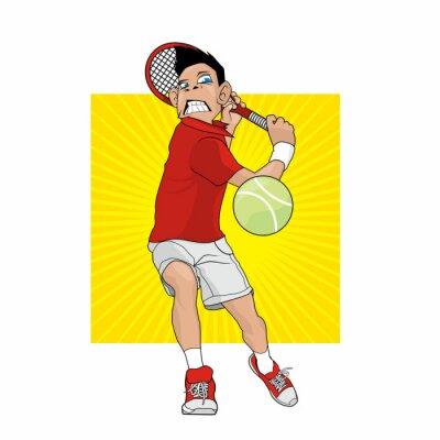 Nálepka Mad tenista