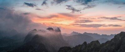 Nálepka Majestic Sunset s horou