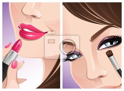Nálepka Make-up close-up