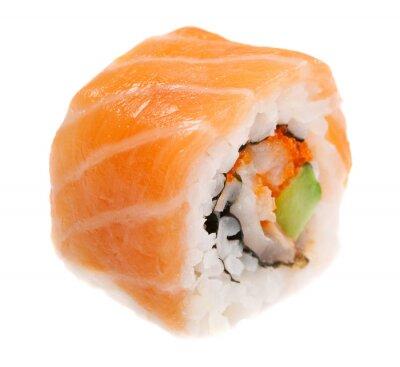 Nálepka Maki sushi na bílém pozadí