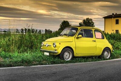 Nálepka Malé vinobraní italština vůz Fiat Abarth
