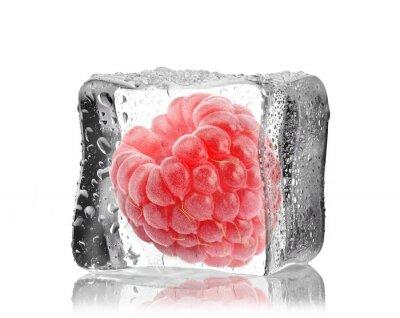 Nálepka Malina w kostce lodu
