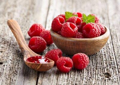 Nálepka Malinový džem s berry