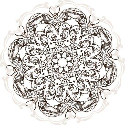 Nálepka Mandala etnické indické ilustrace design