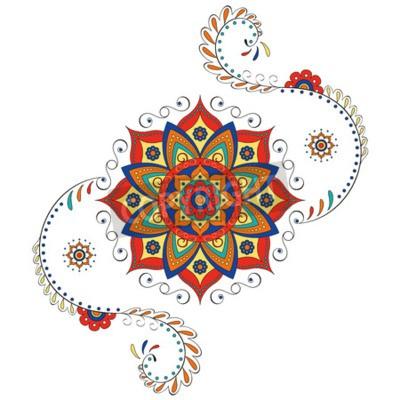 Nálepka Mandala Hind lotus