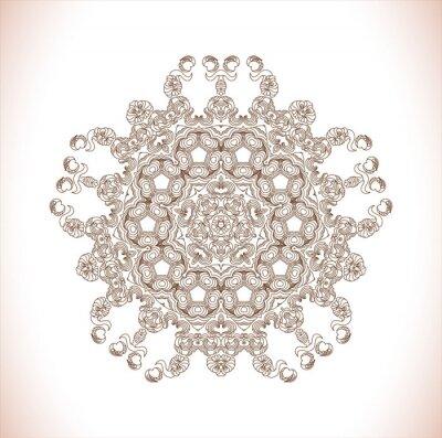 Nálepka Mandala. Kulatý vzor. Abstrakt elegance vzor. ručně kreslenými