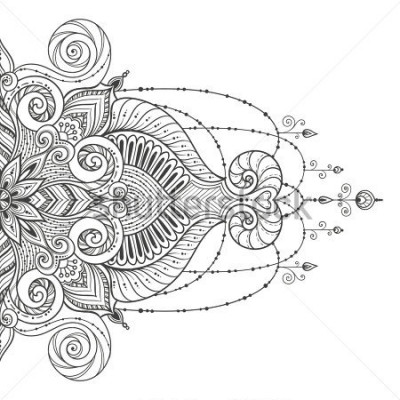 Nálepka Mandala Vector tattoo. Perfect card for any other kind of design, birthday and other holiday, kaleidoscope, medallion, yoga, india, arabic. Islam, Arabic, Indian, asian motifs.