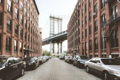 Nálepka Manhattan Bridge od Washington Street, Brooklyn