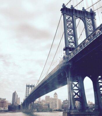 Nálepka Manhattan most přes řeku ve vrcholném stylu, New York