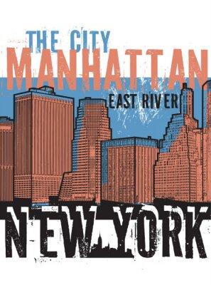 Nálepka Manhattan, New York