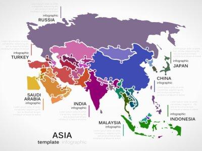 Nálepka Map of Asia