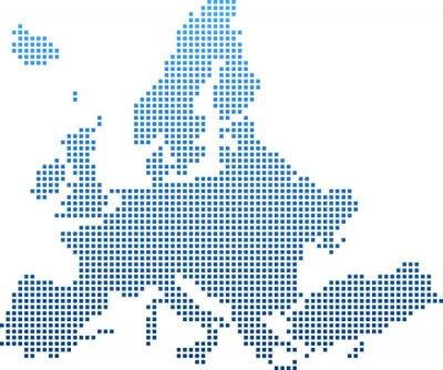 Nálepka map of Europe