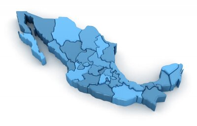 Nálepka Map of Mexico. Image with clipping path.