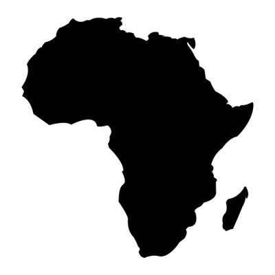 Nálepka Mapa Afriky