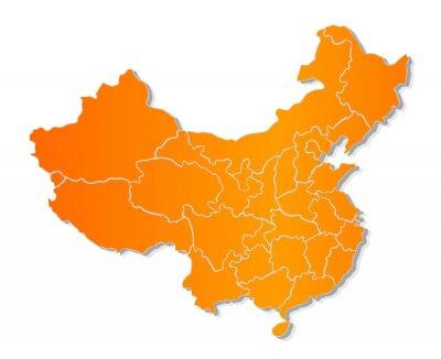Nálepka Mapa Číny