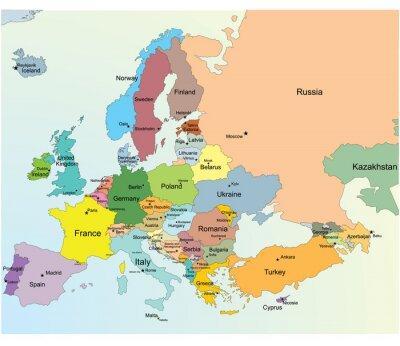 Nálepka Mapa Evropy.