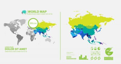 Nálepka mapa infographic
