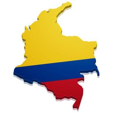 Nálepka Mapa Kolumbie