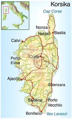 Mapa Korsiky Nalepky Na Notebook Nalepky Na Zed Nonza Ne Soud