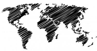 Nálepka Mapa světa