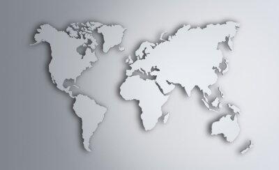 Nálepka Mapa světa. Obraz s ořezovou cestou