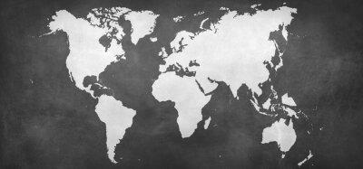 Nálepka mapa země na pozadí