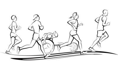 Nálepka Marathon Runners