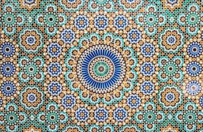 Nálepka maročtí vintage dlaždice na pozadí